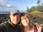 Anthony Arena (CSH '05, MS '07) with his mom on the Hawaiian island of Kauai.