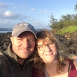 Anthony Arena (CSH '05, MS '07) with his mom on the Hawaiian island of Kauai.