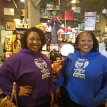 Aubriel Bowen (CMN '12) and Sandra Bowen (LAS MS '05, MED '16) at Cracker Barrel.