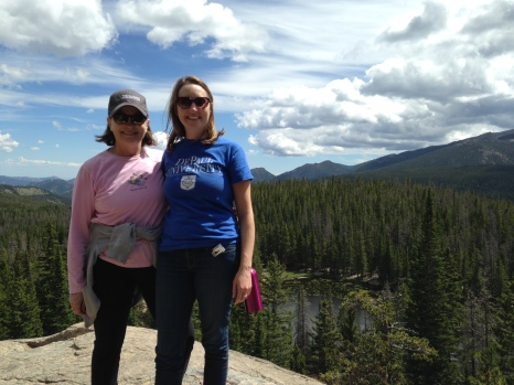 Bridget Brassil (CMN '03) with her mom, Kathy Brassil, in Rocky Mountain National Park in Colorado.