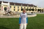 Carl Ollerer (SNL '88) at the Schonbrunn Palace in Vienna, Austria.