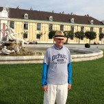 Carl Ollerer (SNL '88) at the Schonbrunn Palace in Vienna, Austria.