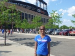 Crystal Mary Willingham (CDM '03) at a Cubs game in New York City.