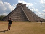 Dennis J. Evashenk (BUS '14) at Chichen Itza on Mexico's Yucatan Peninsula.