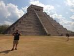 Dennis J. Evashenk (BUS '14) at Chichen Itza on Mexico's Yucatan Peninsula.