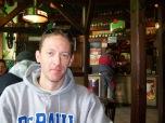 DePaul staff member David Brand at a restaurant in Karlovy Vary, Czech Republic.