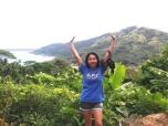 Diana Susanto (SNL '12) on the island of Bora Bora in French Polynesia.