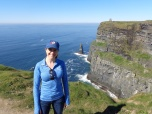 Dina Migala (EDU '08) at the Cliffs of Moher in County Clare, Ireland.
