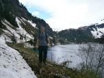 Eric Salinger (LAS '10) on a hike to Silvis Lake in Ketchikan, Alaska.