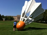Christina Bowman (MED '09) at the Nelson-Atkins Museum of Art in Kansas City, Mo.