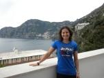 Jen Bruno (BUS '95) on Italy's Amalfi Coast.