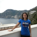 Jen Bruno (BUS '95) on Italy's Amalfi Coast.
