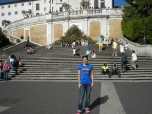 Jen Bruno (BUS '95) on the Spanish Steps in Rome, Italy.