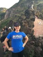 Jen Kouba (CMN '07, MA '11) on Mount Batur, an active volcano in Bali, Indonesia.