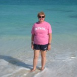 JoAnn Peterson-Montecki (BUS '81, MAC '82) at Grace Bay Beach, Turks and Caicos.