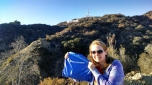 Joellyn Bohlen (LAS '11) in front of the Hollywood Sign in Los Angeles.