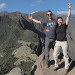 Joseph Weiss (LAS '08) with his wife, Claire, on top of Huayna Picchu, overlooking Machu Picchu, Peru.