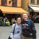 Katherine Boukidis (BUS '16) and Maia McBurney (BUS '16) in Stockholm, Sweden.