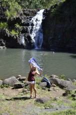 Lauren Pyrzynski (CMN '12) in Hawaii's Waimea Valley.