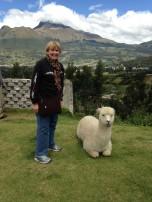 Mallory Eder Pollard (CSH '71) in Quito, Ecuador.