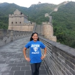 Miriam Manahan (MBA '08, BUS MS '09, MS '10) at the Great Wall of China.