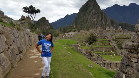 Miriam Manahan (MBA '08, BUS MS '09, MS '10) at Machu Picchu, Peru.
