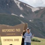 Pattie Ivancic Snyder (CSH '72) at Independence Pass, Colo.
