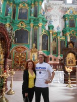 Robert Pine (CSH '74, MBA '76) at a Russian Orthodox Church in Vilnius, Lithuania.