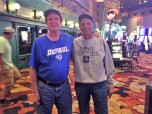 Terrence Hayden (MBA '75) and Thomas Briatico (MBA '75) in Las Vegas.