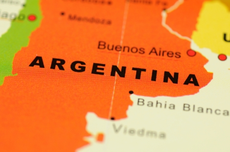 Argentina on map