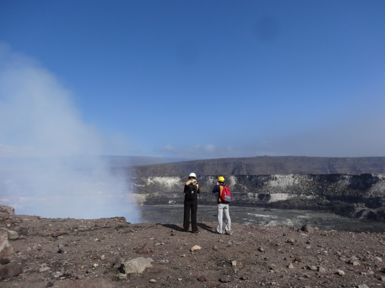 Just another day at the office. Halema'uma'u Crater. Photo credit: USGS-HVO.