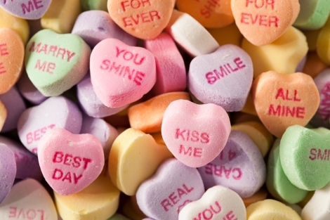Candy Sugar Hearts for Valentine's Day