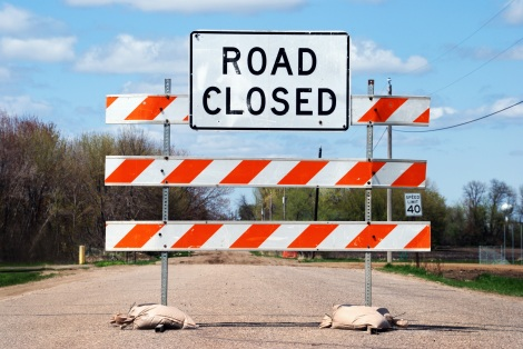 Road closed sign_shutterstock