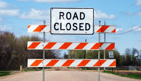 Road closed sign_shutterstock - Copy