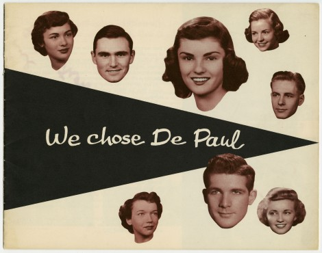 This promotional brochure shows how student life has changed at DePaul over the years. Picked by Andrea Bainbridge.