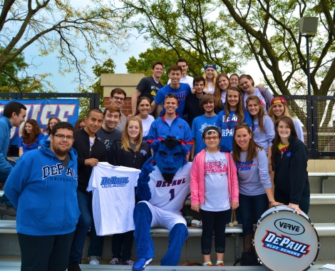 Student Government Association/DemonTHON co-sponsored a soccer game in October 2013. Part of the digital records. Picked by Andrea Bainbridge.