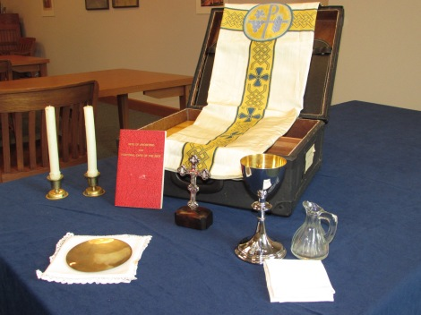 This is a mass kit containing all the necessary elements needed to celebrate the Catholic Liturgy of the Eucharist. Part of the DeAndreis-Rosati Memorial Archives. Picked by Andrew Rea.
