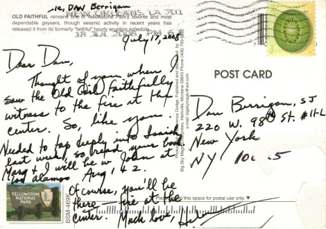 Sister Helen Prejean (DHL '00) corresponds with Father Daniel Berrigan. Picked by Derek Potts (LAS '15).