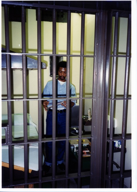 A photograph of Dobie Gillis Williams in his cell on death row in 1996. Picked by Morgen MacIntosh Hodgetts.