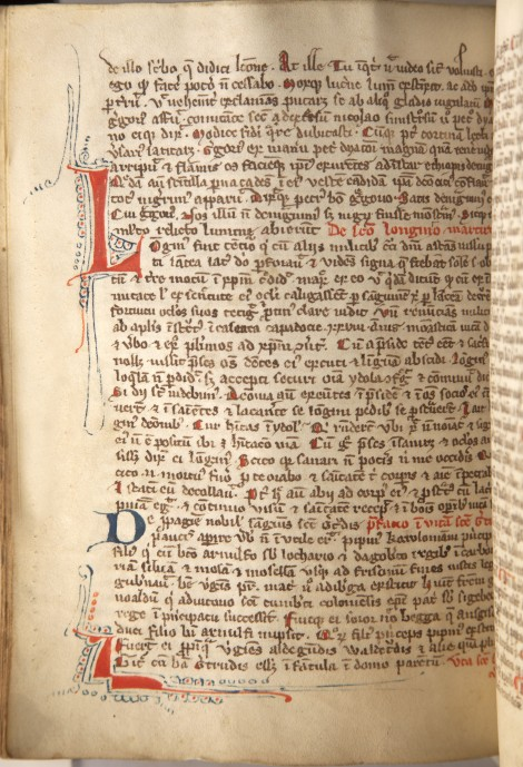 "This copy of ""Legenda Aurea"" is a handwritten manuscript containing biographies of Catholic saints. It was produced in Italy around 1350. Picked by Andrew Rea."