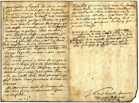 The above is a letter, partly written by St. Vincent de Paul, to Edme Jolly, a superior in Rome, dated Nov. 29, 1658.