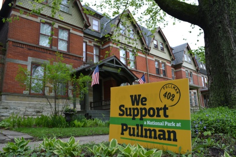Signs showing support for Pullman becoming a national park appear throughout the community. Photo credit: Francis Paola Lea