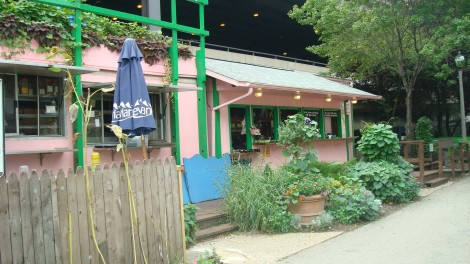 Named for famous French dramatist and poet Cyrano de Bergerac, Cyrano's Café and Wine Bar sits toward the beginning of the Riverwalk and is one of many restaurants along the path.