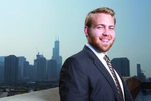 Mike Jersha (LAS '13) helps businesses plan site strategies. Photo credit: Tom Vangel