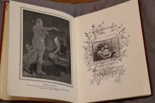 Marley's ghost visits Scrooge, teasing readers for what's to come, in this 1912 edition.