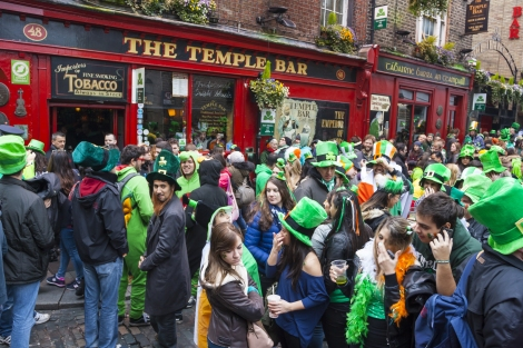 Crowds celebrate St. Patrick's Day in Ireland