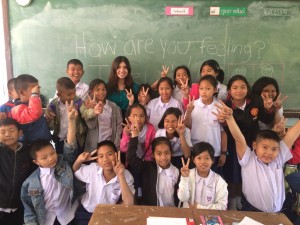 Chavez's first English class in Thailand.