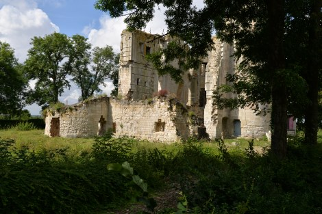 Remains of the Gondi chateau.