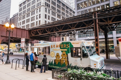 The Beavers food truck is a familiar sight on Wabash Avenue in front of DePaul's College of Law. Photo credit: Jeff Marini