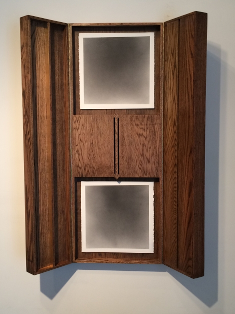 "Nate Young's ""Untitled (Altar No. 4)"" is graphite on paper in an artist-made oak frame. This work will be on display at the DePaul Art Museum in ""Four Saints in Three Acts,"" an exhibition that examines religious imagery in contemporary art. (Image courtesy of the artist and Monique Meloche Gallery, Chicago)"